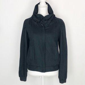 Mike & Chris Navy Wool Zip-up Jacket